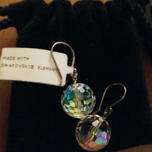 c064fa346 Swarovski Jewelry | Cco Nwt Ab Disco Ball Sterling Earring | Poshmark